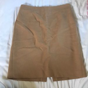 J Crew wool camel colored pencil skirt